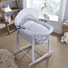 Shop our range of Grey Wicker Moses Baskets.