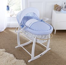 Shop the gorgeous range of immaculate White Wicker Moses Baskets.