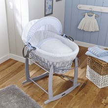 Shop our contemporary range of dove grey Wicker Moses Baskets.