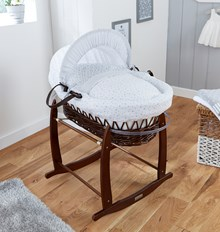 Browse our range of dark cocoa wicker Moses baskets.
