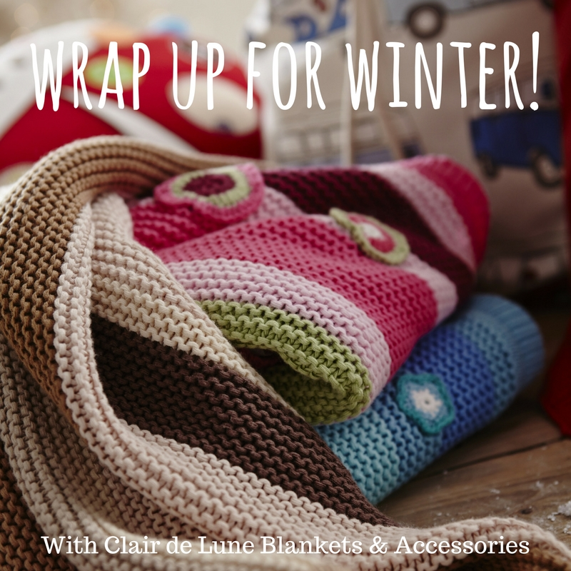 Wrap up for Winter with Clair de Lune Blankets