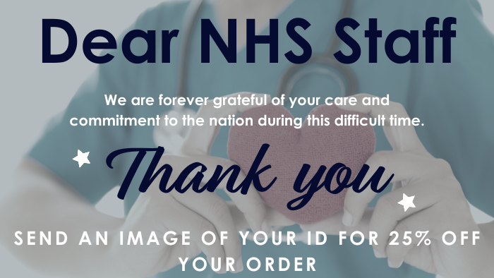 NHS Staff Send your ID for 25% Off - Thank you