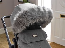 Deluxe Universal Pushchair/Stroller Faux Fur Hood Accessory