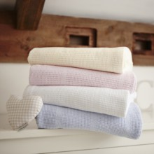 Soft Cotton Cellular Pram Blanket