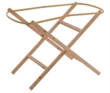 Ready Assembled Natural Moses Basket Folding Stand