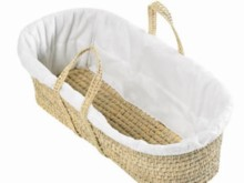 Quilted Liner for Moses Basket