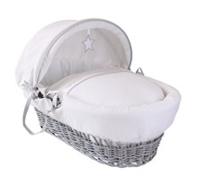 Silver Lining Moses Basket Dressings Bedding Set