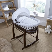 Speckles Dark Wicker Moses Basket