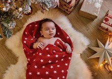 Star Fleece Pram Blanket