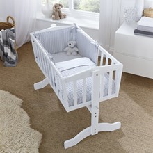 Barley Bébé Crib/Cradle Quilt & Bumper Bedding Set
