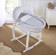 Barley Bébé White Wicker Moses Basket
