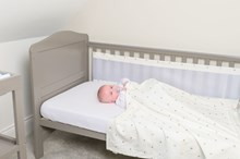 Lullaby Hearts 2 Pack Cot Bed Breathable Bumpers