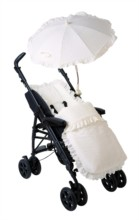 Broderie Anglaise Pushchair Footmuff