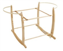 Deluxe Natural Rocking Moses Basket Stand