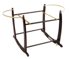 Deluxe Dark Moses Basket Rocking Stand