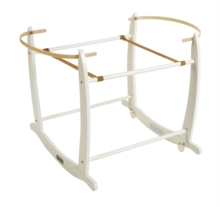 Deluxe White Moses Basket Rocking Stand