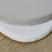 Muslin 2 Pack Fitted Moses Basket Sheets