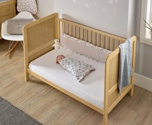 Sparkling Muslin Twin Pack Cot Bed Breathable Bumpers
