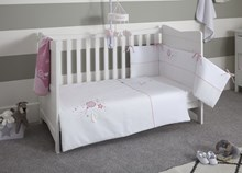 Over The Moon  Cot/Cot Bed Quilt & Bumper Bedding Set