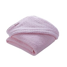 Luxury Honeycomb Hooded Towel in Pink