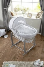 Secret Garden White Wicker Moses Basket