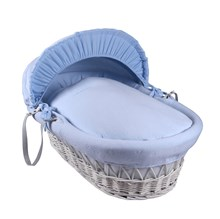 Cotton Candy White Wicker Moses Basket