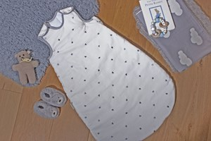 Lullaby Hearts Sleeping Bag (0-6 Months)