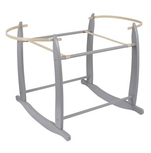 Deluxe Grey Moses Basket Rocking Stand