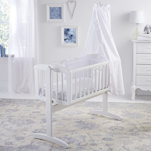 Broderie Anglaise 4 Piece Crib/Cradle Bedding Set