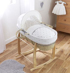 Lullaby Hearts Palm Moses Basket