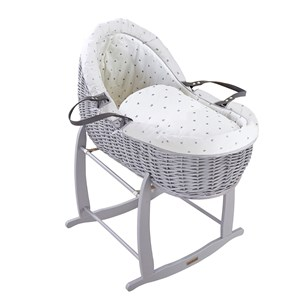Lullaby Hearts Grey Willow Bassinet®