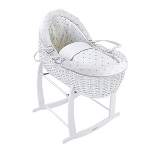 Lullaby Hearts White Willow Bassinet®