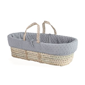 Terry Dot Palm Moses Basket