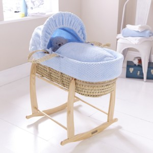 Honeycomb Palm Moses Basket in Pink