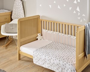 Sparkling Muslin Coverlet & Twin Breathable Bumpers Bedding Set