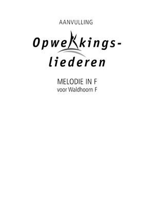 Opwekking muziekboek 820-831 in F (Losse bladen/Geniet)