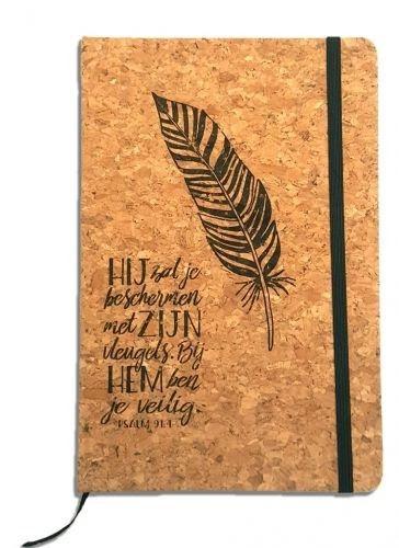 Notitieboek - Psalm 91:4 Hij zal je beschermen (Cadeauproducten)