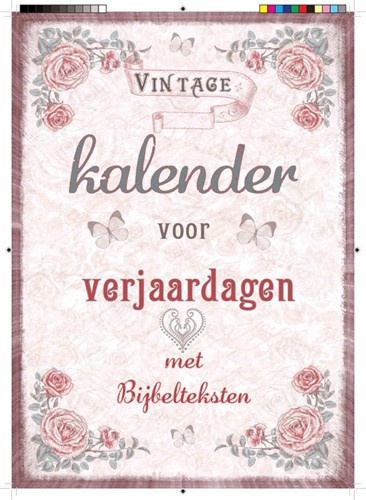 Vintage kalender voor verjaardagen (Kalender)