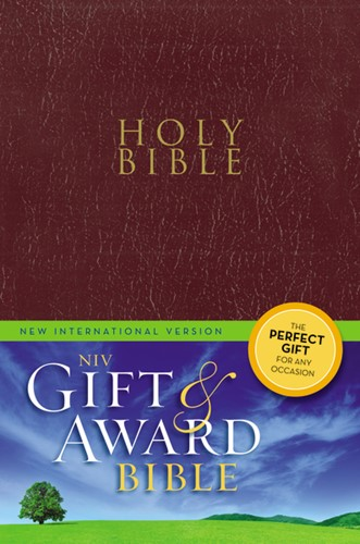 Gift & award bible NIV burgundy leather (Boek)