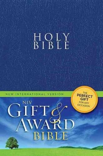 NIV bible gift en award blue (Boek)