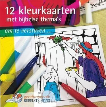 12 kleurkaarten met bijbelse thema's (Losse bladen/Geniet)