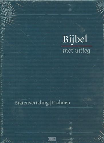 Bijbel met uitleg, klein blauw, harde band in luxe cassette (Hardcover)