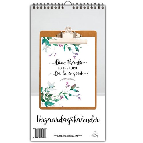 Give thanks to the lord for he is good (Kalender)