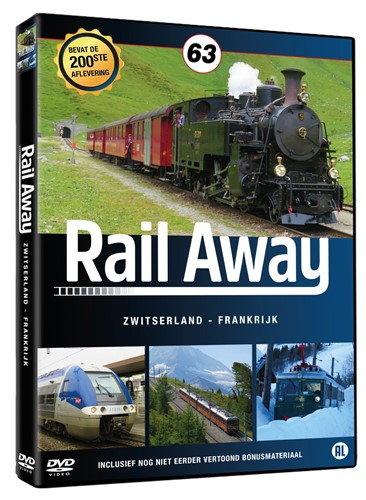 Rail Away 63 - Zwitserland en Frankrijk (Jubileum) (DVD)