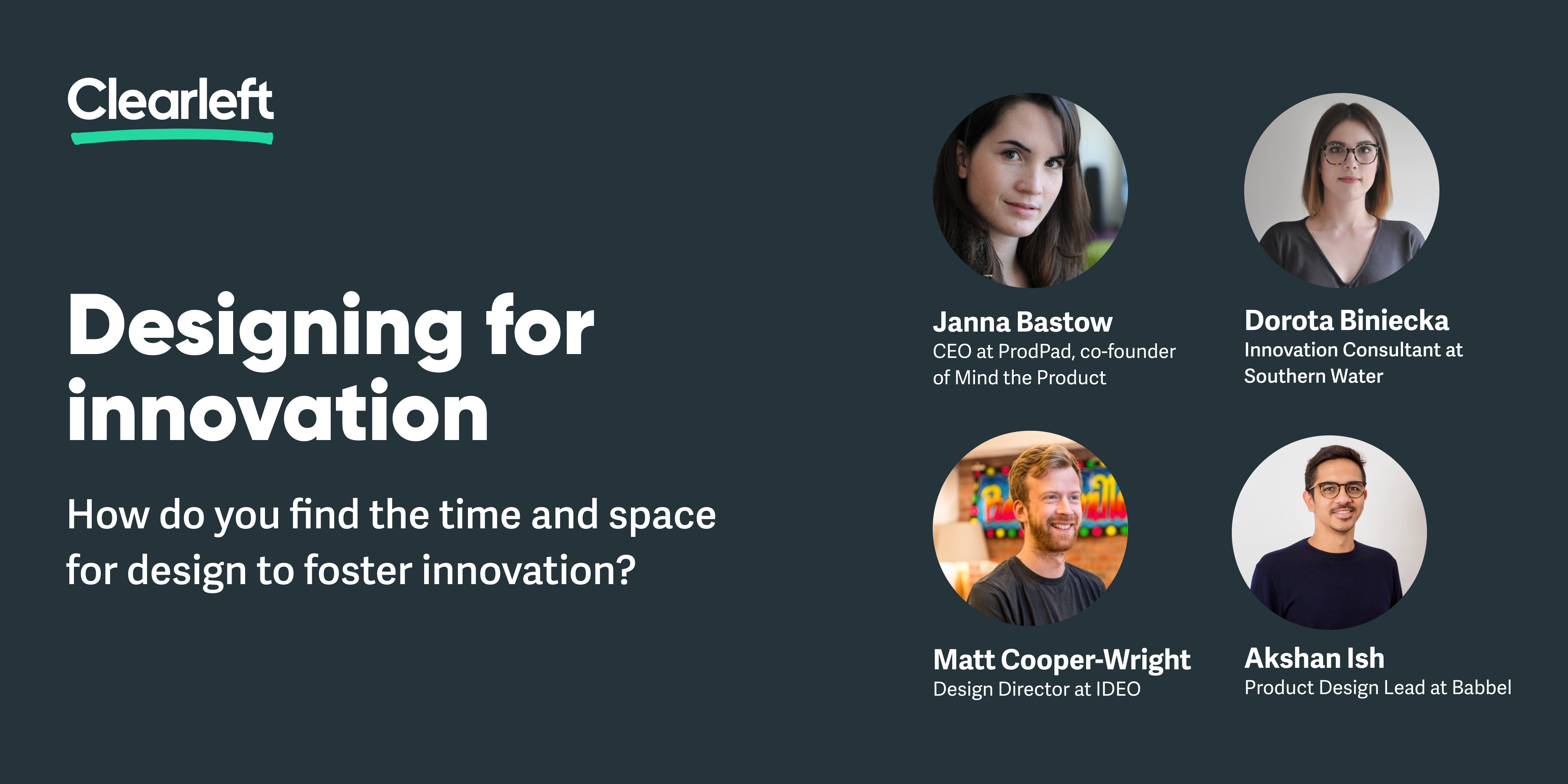 Designing for innovation panellists