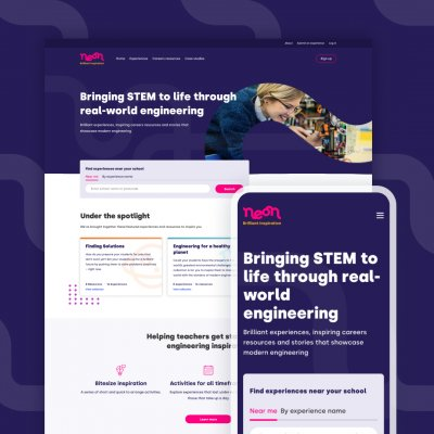 neon interface and website