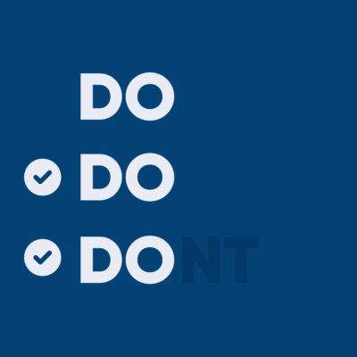 do do don't check boxes for design principles