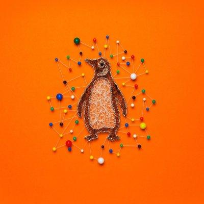 A felt version of the iconic Penguin logo.