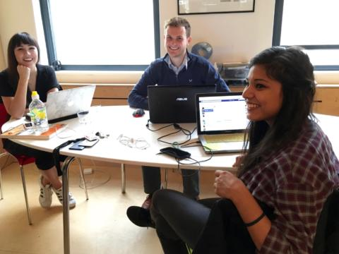The Notice Intern Team: Chloe, Chris and Monika