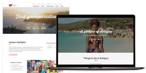 Virgin Holidays Antigua destination page